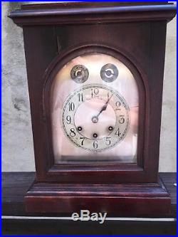 ANTIQUE GUSTAV BECKER MANTLE CLOCK MEDAILLE DOR FRANCE 5 Bar Westminster Chime