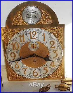 Antique Junghans 3 Weight Westminster Chime Grandfather Tallcase Clock Movement