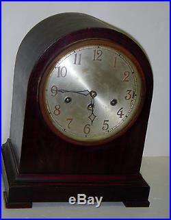 Antique Junghans Westminster Chime Beehive Clock A32 8 Day Germany Working