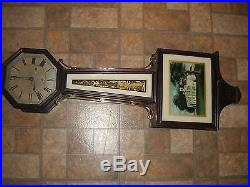 Antique New Haven Westminster Chime Banjo Clock