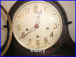 Antique New Haven Westminster Clock, Near Mint, Lovely Large Chiming Tambour