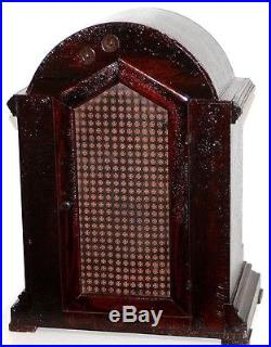 Antique Running Waterbury Chime No. 500 Huge Mahogany Westminster Bracket Clock