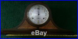Antique Sessions Westminster Chime Clock, Lovely Red Mahogany Case, Runs Great