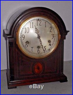 ANTIQUE SETH THOMAS 8 DAY WESTMINSTER CHIME CLOCK #96 CLOCK c. 1928 WORKING INLAY