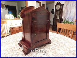 Amazing Antique RARE JUNGHANS Westminster Chime Mantel Bracket Clock-1905-WOW