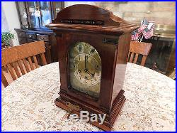 Amazing Beautiful German Junghans 8 Day Westminster Chime Mantle Bracket Clock