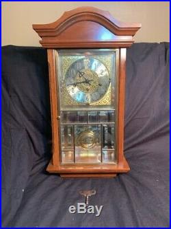 Ansonia 645 Wall Clock Westminster Chiming Quarter Hour Gold Medallion 8 day