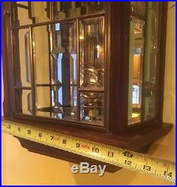 Ansonia Brass Beveled Glass German Movement Triple Chime Wall Clock Westminster