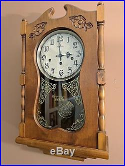 Ansonia Floral Wall Clock Westminster Chimes (Good condition)