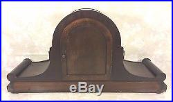 Ant Junghans Clock Tambour Case Westminster Chimes Runs 4 Rod Chime Germany