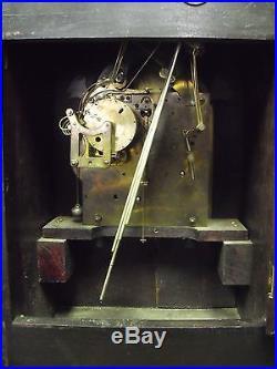 Ant. Junghans German Mahogany Bracket Clock, Westminster Chimes, 8 x 12 x 17 H
