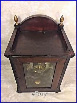 Ant New Haven Chime Clock No 1 Running 8 Bell Westminster Chimes Mahogany Case