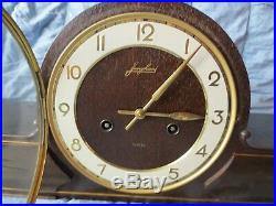 Antique 1874 Large Heavy Junghans Westminster Chime Mantel Clock Working