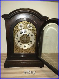 Antique 1890 Junghans Astor 1/4 Hour Westminster Chime Mantle Clock # 17108