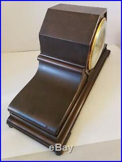 Antique 1920's ANSONIA Sonia No. 3 Westminster Chime Mahogany Mantel Shelf Clock