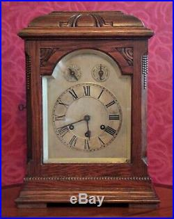 Antique 19th C. German Gustav Becker 8-Day Bracket Clock with Westminster Chimes