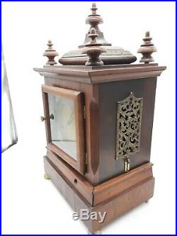 Antique 5 Coil Gong Westminster Chime Mantel Clock 1896 New Haven