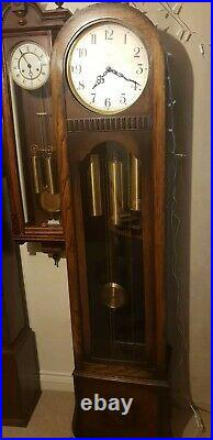 Antique Art Deco Enfield Grandfather Clock, Westminster chiming, 1930 1940