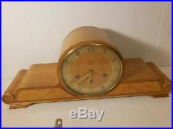 Antique Art Deco Junghans Birks Westminster Chime Mantel Clock Made in Germany