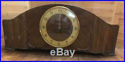 Antique Art Deco Junghans Westminster Chime Mantel Clock Made Germany
