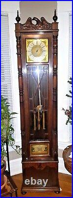Antique Art Deco Winterhalder / Colonial Westminster Chime Grandmother Clock, CI