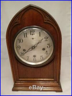 Antique BEAUTIFUL New Haven Bee Hive Cathedral Clock Westminster Chimes RUNS