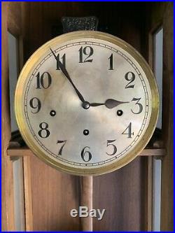 Antique Baroque Style Westminster Chime Wall Clock