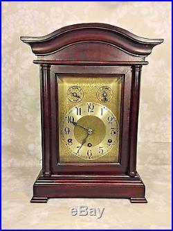 Antique CAC Bracket Clock Brass Movement Westminster Chimes Runs Nice Wood Case