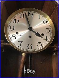 Antique Carved Art Deco Kienzle Wall Clock Fruit Motif Westminster Chime
