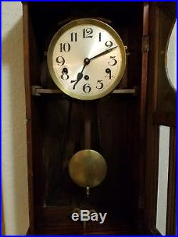 Antique Fontenoy Westminster Chime Wall Clock made in France Mantel Shelf