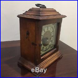 Antique Franz Hermle 8 Day westminster chime mantle clock Made In West Germany