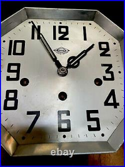 Antique French Art Deco Regulator Wall Clock With Westminster Chimes