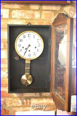 Antique French'Odo' 8-Day Wall Clock with Westminster Chime, early 20th Century