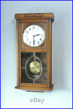 Antique French Wall Clock Westminster Chime Old Clock