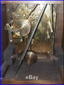 Antique German 3 holes Junghans table / bracket clock. Westminster chiming