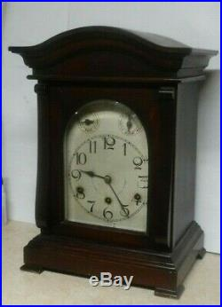 Antique German Cac Westminster Chime Mahogany Bracket Clock Working