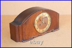 Antique German Friedrich Mauthe Westminster Mantel Clock Chime Art Deco 1920's