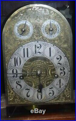 Antique German H. H. Peerless Westminster Chime Mahogany Bracket Clock Working