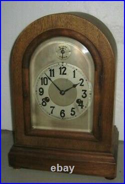 Antique German Hac Quarter-hour Westminster Chime Bracket Clock Roundtop Working
