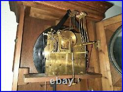 Antique German JUNGHANS Westminster chime wall clock (0369)
