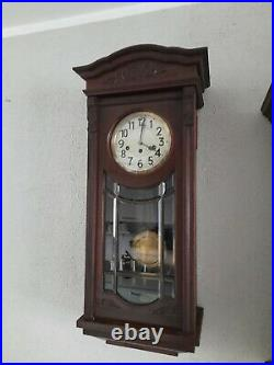 Antique German JUNGHANS Westminster chime wall clock (0374)