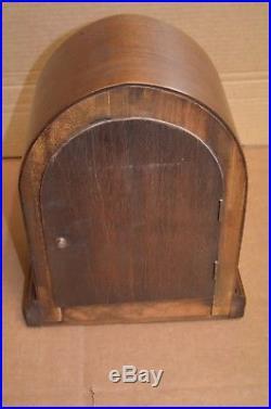Antique German Junghans 1/4 Hour Strike Westminster Chime Mantle Clock Running