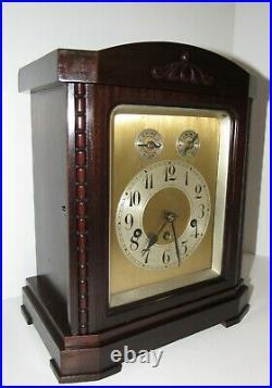 Antique German Junghans A52 Quarter Hour Westminster Chime Bracket Clock 8-Day