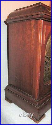Antique German Junghans B10 Mantle Clock with Westminster Chimes Working with Key