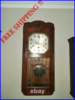 Antique German Kienzle Westminster chime wall clock French style (0368)