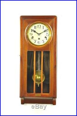 Antique German Lenzkirch Art Nouveau Westminster Chime Wall Clock approx. 1925