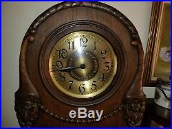 Antique German Oak Grandfather Clock Westminster Chimes C 1880