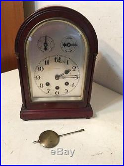 Antique German Westminster Chime Bracket Clock Toronto Retailer Junghans Style