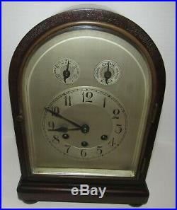 Antique Gustav Becker Arched Top Westminster Chime Melody Bracket Clock 8 Day