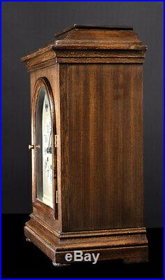 Antique Gustav Becker Running Fine Westminster Chime Melody Bracket Clock 8 Day